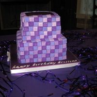 Purple Party April 2008 - The theme for this 40th birthday was purple and this is the design I came up with. Everything is fondant. I cut out the...