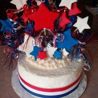 Shooting Stars July 4Th Cake I really liked how this cake turned out and so did the family it was for. It was a carrot cake. The children at the picnic LOVED the...