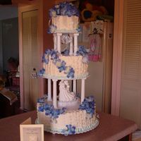 "Big Blue Basket.. Okay this is my first ""Big"" wedding cake! Just got it done and need advice and constructive critisism will be appreciated too. 14..."