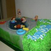Pool Party My son was having a pool party & I couldn't find any cakes with kids playing in the pool. I came across your website and decided...
