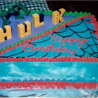 Incredible Hulk & Spidey My nephew couldn't decide whether or not he wanted the Hulk or Spiderman, so I told him he didn't have to decide and I managed to...