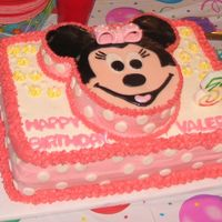 Minnie Mouse Birthday Cake I made this cake for my daughter's 3rd birthday. I used a fab cake I found on here for inspiration!! Minnie's face, the bow, and...