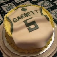Garnett Jersey This cake was for my nephew's birthday. BC with fondant jersey.