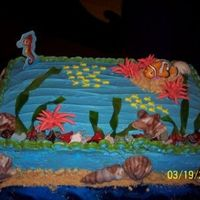 Finding Nemo This is the second cake I made for my daughter.