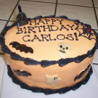 Spooky Birthday Cake I don't know where to put this - birthday cakes, or Halloween cakes. This is a cake for my friend. We all LOVE Halloween, and do our...