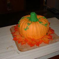 Harvest Pumpkin Cake I've never been a real big fan of Halloween, so we've always celebrated Harvest instead. I made this Harvest Pumpkin for my kids...
