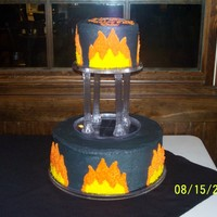 Flames Birthday Cake