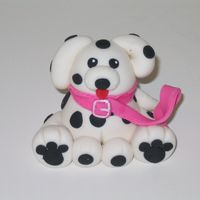 Dalmatian Dalmatian puppie made with gum paste.