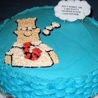 "Dilbert Cake A delightfully sarcastic Dilbert cake made for Bosses day that states ""Don't worry, this cake wasn't charged to our cost..."