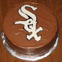 Go Sox Below is a cake I put together and decided to decorate it for a Chicago White Sox World Series Game One Party.