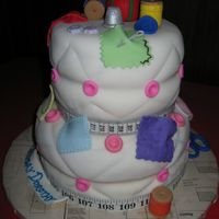 60Th Birthday Cake For Sewing/quilting Fanatic