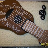 Guitar Birthday Cake 2 Another view of the guitar cake. Thanks for looking!!!