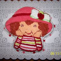 Strawberry Shortcake This was done for a co-worker's daughters' birthday. I used a Wilton shaped pan chocolate cake with bc icing. My daughters helped...