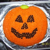 Jack O Lantern This cake was done by my 14 yr old daughter. She did it for a cake walk at our Fall festival at our church. Wilton Jack O Lantern pan and...