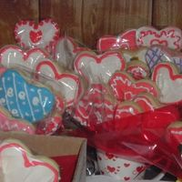 Cookies Cookies Cookies Cookie Bouquet packed away. I baked over 300 cookies and along with the help of 4 others, we made around 50 - 75 cookie bouquets....I was...