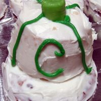 Clay's Mini Hat Cakes To go along with his baseball theme, I made mini baseball hats (30) to be taken to school. They were made with a big chocolate chip cookie...