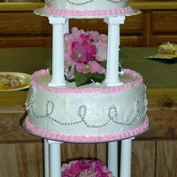 Wedding Cake This was my wedding cake. Sad when you have to make your own...lol Anyways, it was special to me. The beadwork on the outside is a strand...