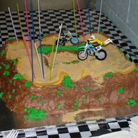 Dirt Bike Cake This was a collaborative effort between my husband and I. It was for our boys joint birthday in 2007.