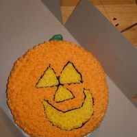 Pumpkin Cake #1 This was made for a Halloween cake walk in 2006.