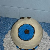 Bowling Ball This was a collaborative effort between my husband and myself. It was for his boss, who had a bowling ball that looked like an eyeball.