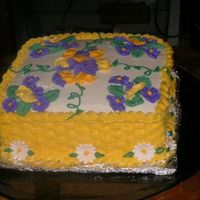 Course 2 Cake This was a collaborative effort between my hubby and I. We took the Wilton Class 1 and 2 together and our teacher let us work together on...