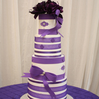 Purple Wedding Cake.