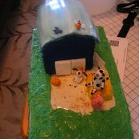 Barnyard 1St Birthday Cake. Based on a plate and napkin design... really had fun making the animals!