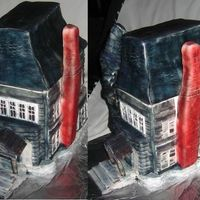 Haunted House. A chocolate cake haunted house, based loosely on the Addams family mansion. All decorations are edible. Covered in rice crispies and...
