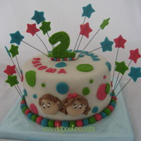 Twin Birthday Cake. all fondant.