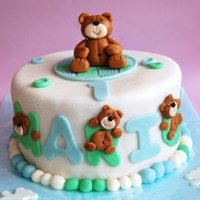 Bears Cake! All homemade fondant.