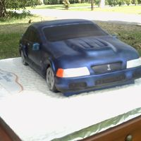 04 Mustang 04 mustang, all the stickers, tag, all edibles, tires are cake too. marble cake with chocolate filling
