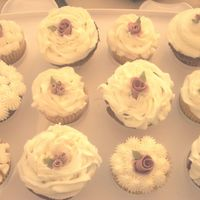 Bridal Shower Cupcakes  I made these cupcakes for my sister in laws bridal shower. They matched the bridal shower cake that I also made Coconut Raspberry and...