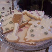 Bridal Shower Decorated Cookies   I made these for my sister in laws Bridal shower. No Fail Sugar Cookies recipe with Antonia's Icing.