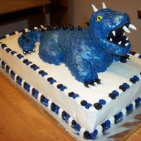 Dragon Cake I made this dragon cake for my grandson's 9th birthday. We put 9 candles in his mouth and lit them on fire. It was so cool. It...
