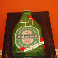 Man's 40Th Birthday Likes his Heineken!!!!!!!! Who doesn't!!! :-)