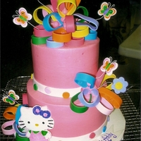 Hello Kittly   This cake made for my niece's 4th birthday. She loves HK. Cake iced in BC with fondant accents.