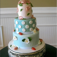 Cute!   Mother's Day cake-all fondant to include the roses and strawberries