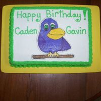 Birthday Parrot  A friend requested a sheet cake with this parrot for her twins' birthday. This parrot was the same image that she used for their...
