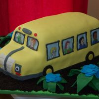 Magic School Bus In The Rainforest  I made this Magic School Bus cake for my friend's son's 6th birthday. His favorite episode is when the bus visits the rainforest...