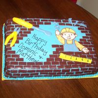Bob The Builder  This is a Bob the Builder sheet cake for my friend's twin's 3rd birthday. It's a triple chocolate fudge cake with...