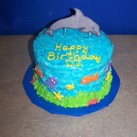 Under The Sea Cake  This was a small last-minute cake for a friend's son's 3rd birthday. He loves water and went to the local aquarium for his...