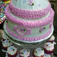 Details Of My First Doll Cake.... This is a close up of the doll cake I made. I loved doing this girly cake!
