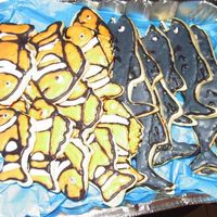 Fish Cookies cookies for my grandsons kindergarten class. His birthday was the same day they were going on a field trip to Sea World, so I thought these...