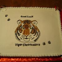 Tigers This was for my daughter's cheerleading team kick off party. The tem mascot is a tiger.