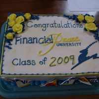 Fpu Graduation Cake  Made this cake for our FPU class... for the last class it was a potluck of sorts.... chocolate fudge cake iced in bc, fondant gazelle and...