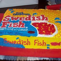 Swedish Fish Front A different angle of my Swedish Fish cake.