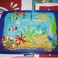 Under The Sea Cake   I made this cake for my son's 3rd birthday.