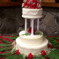 Replica Of A Colorado Wedding Cake 25 Years Ago I was asked to make a replica of a couple's original wedding cake for their 25th wedding anniversary. Buttercream frosting with fresh...