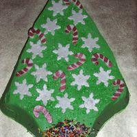 Xmas Tree Cake Just a quick cake for our christmas eve get together. All accents are fondant