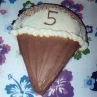 Ice Cream Cone DD requested this cake for her 5th birthday (with real sprinkles!).